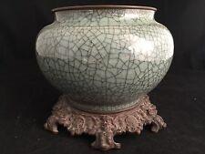 Vase Céladon Craquelé XVIII Chinois Chine Chinese China Porcelaine Porcelain