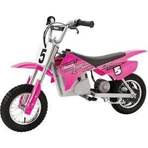 Razor MX350 24V Dirt Rocket Electric Ride On Motocross Bike - Pink