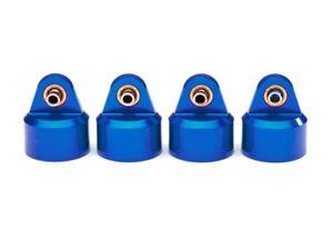 Traxxas 8964X Shock Caps, Aluminum (Blue-Anodized), GT-Maxx Shocks (4)