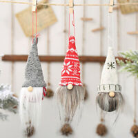 Party Decorations New Year Christmas Ornament Gnome Doll Rope Pendant Xmas Tree~
