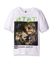 NEW Boys JURASSIC PARK T SHIRT Dinosaur T-REX #TBT 100% Cotton LG 14/16 Official