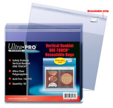 ULTRA PRO Vertical Booklet One-Touch Resealable Bags 50ct Pack Protector Sleeves