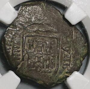 1605 NGC VF 25 Spain 8 Maravedis Philip III Valladolid Lion Coin (21012405C)