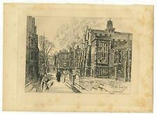 Herbert Railton Eng. Illustrator Engraved Plate 1908 Seeley & Co. of Cathedral