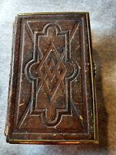 ANTIQUE BIBLE: 1866 Mini Prayer Book Old  & New Testament  Psalms
