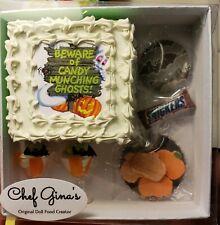 Barbie or Gene Size Halloween Cake Box Set Realistic Mini Food 1/6th scale