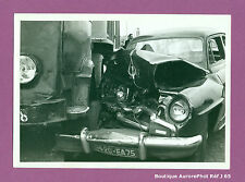 PHOTO DE POLICE CONSTAT D'ACCIDENT CRASH, VOITURE CONTRE CAMION, 1955 -J65