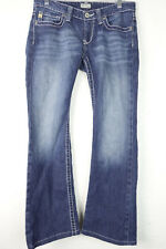 Buckle Big Star Sweet Ultra Low Rise Boot Flap Pockets Stretch Jeans 28