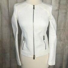 Gorgeous White Cotton Zip PINKO TAG Jacket Size 8