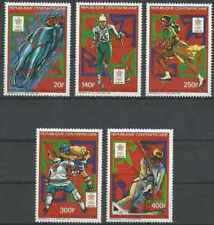 Timbres Sports d'hiver JO Centrafrique 768/70 PA367/8 ** lot 22797