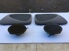 1996-1997 Ford Thunderbird Rear Speaker SET & Access Cover Grille Tan NICE OEM