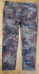 Levis Camo Cargo Pants Loose Straight Mens Fit 42x32