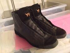 RARE 2009 Y-3 YOHJI YAMAMOTO x ADIDAS ALL BLACK *HEJARKLACK* HI-TOPS 8.5 US