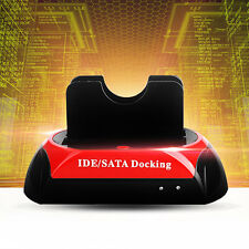 2.5 Inch 3.5 Inch IDE SATA USB Dual HDD Hard Drive Disk Docking Station Base VW