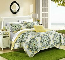 Chic Home Madrid Bedding Set, Quilt - King, Yellow