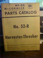 HT-23 McCormick Parts Catalog No.52-R Harvester-Thresher 1949  (1M)