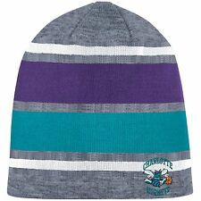 Mitchell & Ness Athletic Grey Beanie Knit Hat (Charlotte Hornets Throwback)