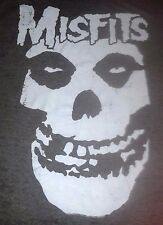 Large Men'S T-Shirt * Misfits Skull Classic Black Cyclopian Music * Tissue Tee