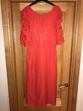 M&S Collection Red Leopard Animal Print Midi Dress Size 12 RRP £49.50