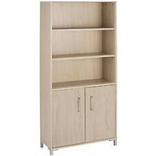 Large Storage Bookcase Shelves with 2 Door Cupboard - Light ZAS042904002