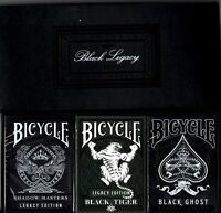 Bicycle Ellusionist Black Legacy Boxed Set Edition US Playing Cards Magic Poker