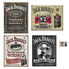 Bundle: Jack Daniels Sign Decor - Jack Daniels Logo Tin Sign, Jack Daniels Ha...