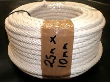 "COTTON SASH CORD ROPE 10mm x 25m or 86'  ""FREE POSTAGE"""
