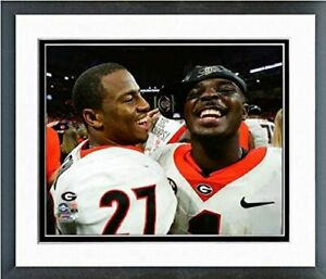 "Nick Chubb & Sony Michel Georgia Bulldogs Photo (Size: 12.5"" x 15.5"") Framed"