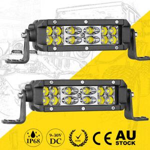 "2x 6"" Cree LED Work Light Bar Super Slim Spot Flood Driving Fog ATV 4WD 12V"