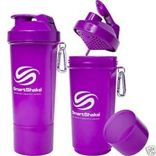 SMART-SHAKE Protein Shaker Bottle, Mixer Shaker Cup SmartShake Neon Purple NEW