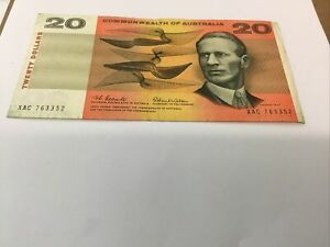 $20 Commonwealth Of Australia Coombs Wilson Bank Note AUNC