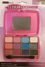 Beauty Treats 12 Color Eyeshadow with Mirror Pink