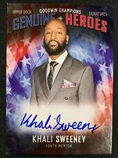 2018 Upper Deck Goodwin Champions Genuine Heroes Khali Sweeney Auto Youth Mentor