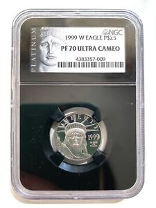 1999 W Eagle Platinum $25 PF70 Ultra Cameo