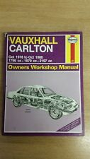 VAUXHALL CARLTON 1978 to 1986 HAYNES WORKSHOP MANUAL 480 IN A USED COND FREE P&P
