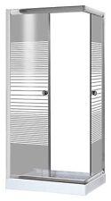 Box cabina doccia Brixo Cormorano angolare 70x90 vetro serigrafato 5mm
