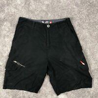 Vintage LOST Enterpises Cargo Shorts Mens Size 36 Black Trunks