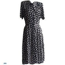 Maggy London women's Floral Black&White Midi Dress. Button Down,Pockets, USA