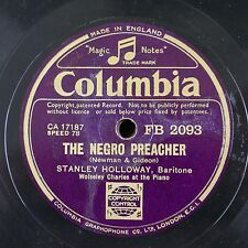 78rpm STANLEY HOLLOWAY the negro preacher / parson of puddle