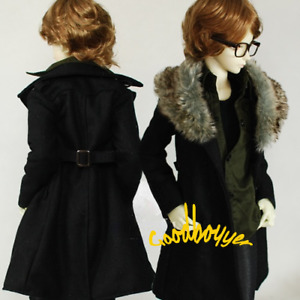 1/4 1/3 Uncle BJD Doll Clothes Double-breasted Windbreaker Detachable Fur Collar
