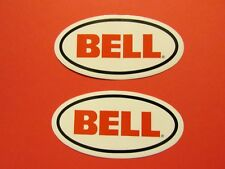 Two Genuine Bell Helmet Team Racing Sponsor Logo Decals Stickers