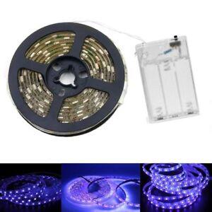 USB battery 5V UV led strip light 395-405nm 5050 60led/m Flexible blacklight 2M