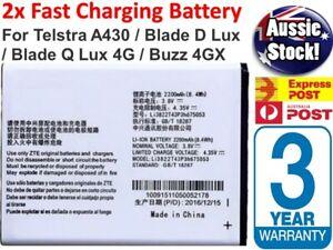 new Battery For ZTE A430 Blade Q Lux Telstra 4GX Buzz 2300mAh Li3822T43P3h675053