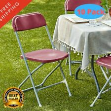 """10 Pack Red Textured Contoured Folding Chair Gray Frame 330 Lb 35"""" x 17 1/2"""""""