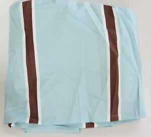 Restoration Hardware Italian Rugby Stripe Crib Skirt Baby & Child Blue Brown New