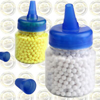 1000PCS Hard Airsoft Pellets BB 0.12 6mm Tactical White / Yellow BB Balls Bottle