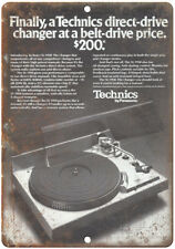 """Technics SL-1950 Direct-Drive Turntable Ad 10"""" x 7"""" Reproduction Metal Sign D127"""