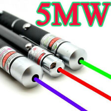 3PCS 5MW Laser Pointer Pen Green + Blue Violet + Red Light Beam Powerful