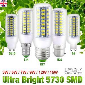 LED Corn Light Bulb E27 B22 E14 G9 GU10 SMD5730 LED Bulb Lamp Cool/Warm White