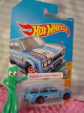 '71 DATSUN BLUEBIRD 510 WAGON #277✰ Blue✰Surf Patrol✰2017 i Hot Wheels case M/N